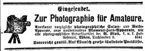 Photography instructions for amateurs offered