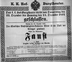 Das Burgtheater bleibt vom 22. zum 24. Dezember geschlossen.