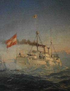 SMS Kaiserin Elisabeth by Alexander Kircher (now in HGM Wien)