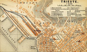 Baedeker map of Trieste 1891
