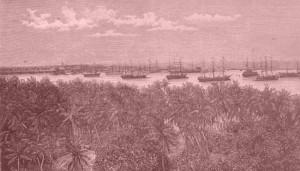 Colombo Harbor, Ceylon (Dillingers Illustrierte Reisezeitung, no. 2, 10. Januar 1893, p.3)