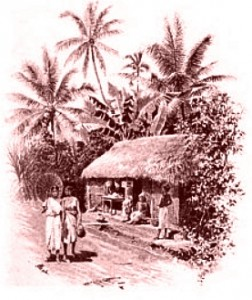 Huts in Colombo, Ceylon