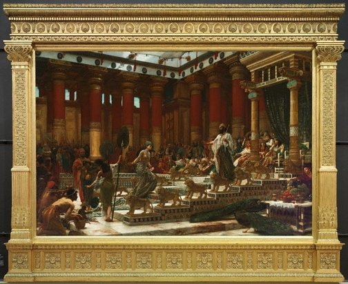 Edward John Poynter (England 20 Mar 1836 – 26 Jul 1919): The visit of the Queen of Sheba to King Solomon, 1890